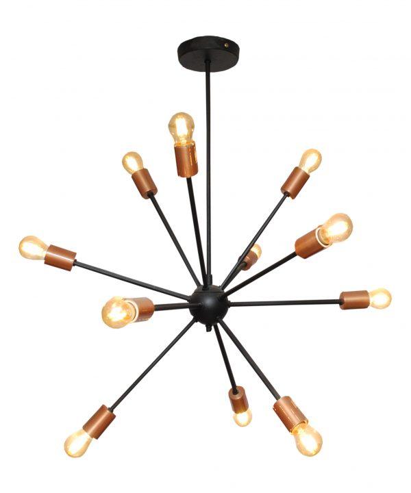 Lámpara tipo átomo 12 luces