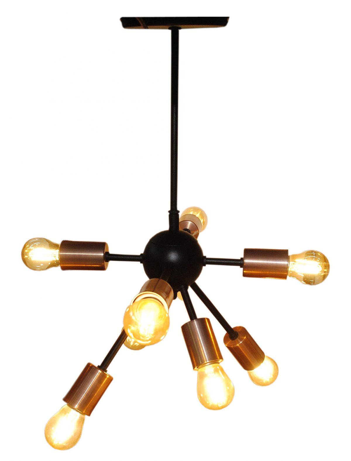 Lámpara tipo átomo de 8 luces